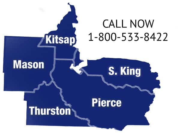 Mason, Kitsap, and Pierce Counties