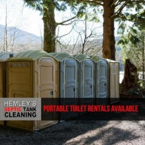 Portable Toilets Rental by Hemley's Septic