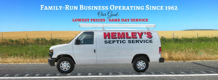 service van Hemley's Septic