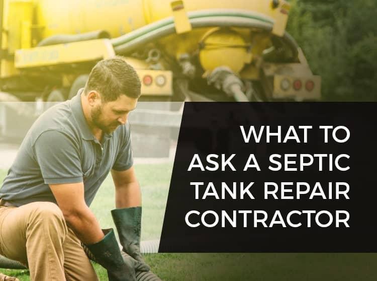 Septic Tank Repair Contractor